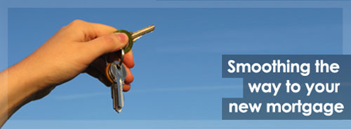 Picture of hand holding keys. Caption: Smoothing the way to your new mortgage